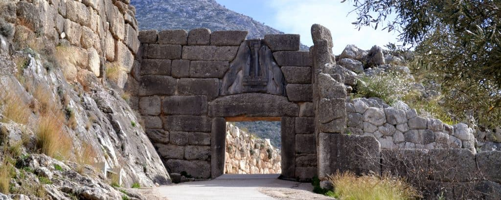 Lions Gate of Mycenae in the Peloponnese