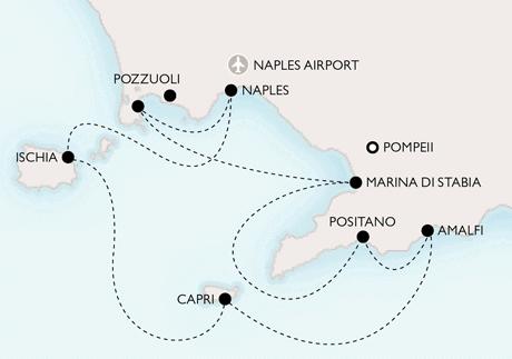 Map Turkey, Greece and Italy