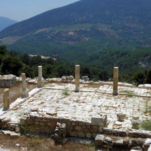 The atrium of the smaller Roman bath.