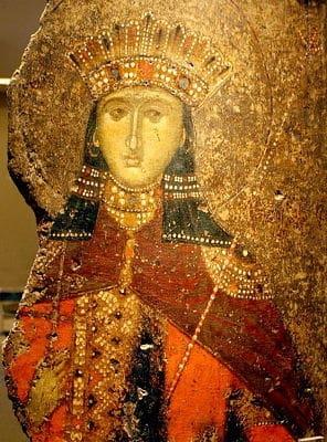 athens byzantine museum st catherine icon
