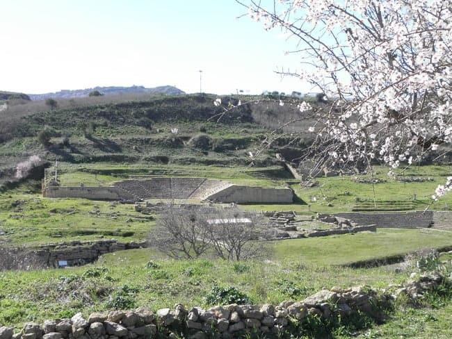 Springtime view over the agora and theatre of Morgantina